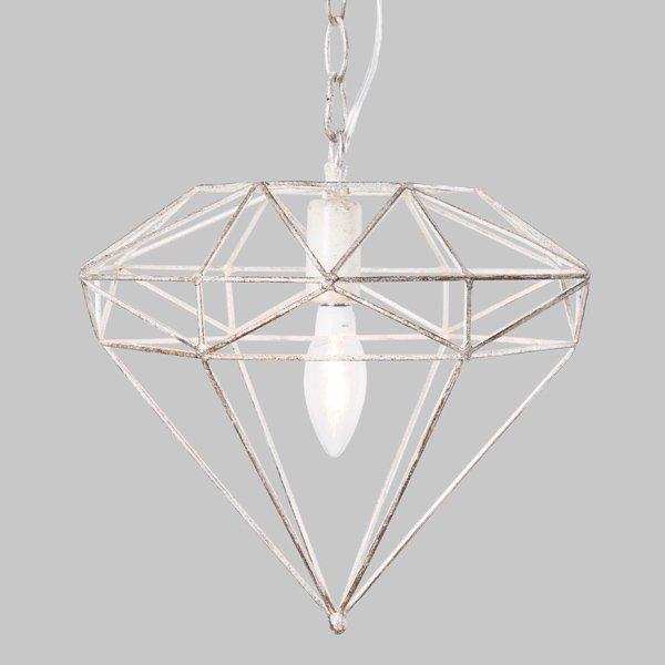 【即納可!】 ミニペンダントライト1灯ホワイト(φ330×H260mm)