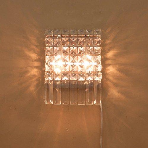 クリスタルウォールランプ2灯「TUSU」・クローム(W195×D105×H250mm)