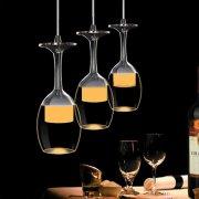シーリングペンダントライト・ワイングラス型3灯(φ250×H1000mm)