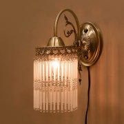 クラシカルウォールランプ1灯「アンナマリア」・アンティークブロンズ(H300mm)
