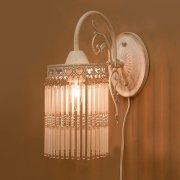 クラシカルウォールランプ1灯「アンナマリア」・ホワイト(H300mm)