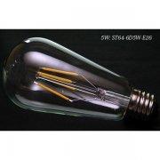 <B>【エジソン電球】</B>新LEDフィラメント電球 STタイプ 5W(E26)(Φ64×132mm) ※調光対応