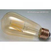<B>【エジソン電球】</B>新LEDフィラメント電球 STヴィンテージタイプ 5W(E26)(Φ64×132mm) ※調光対応