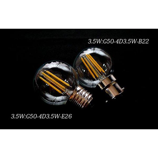 【クリプトン電球】 新LEDフィラメント電球 ボール球型Gタイプ50 3.5W (Φ50×72mm)※調光対応