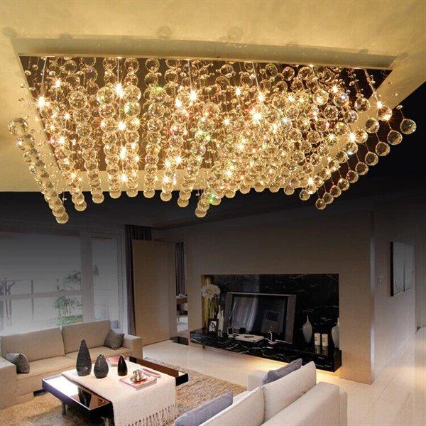 シーリングライト クリスタル照明 24灯(L1000×W600×H240mm)