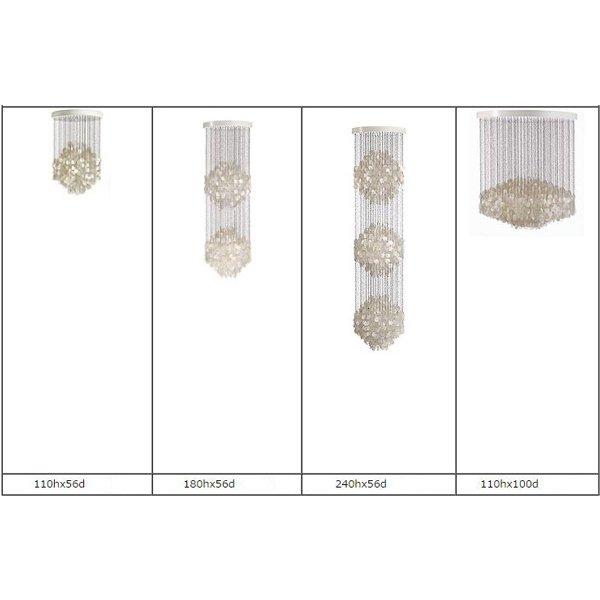 LEDシーリングライト クリスタル照明 1灯〜3灯(D560×H1100mm〜D1000×H1100mm)