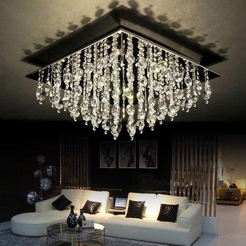 LEDシーリングライト クリスタル照明 16灯(L600×W600×H330mm)