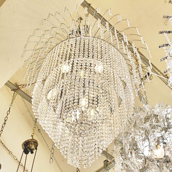 【LA LUCE】デザインシャンデリア 9灯 (約Φ650×H900mm)