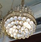 <B>【LA LUCE】</B>ボールクリスタルシャンデリア 2灯(W230×H300mm)