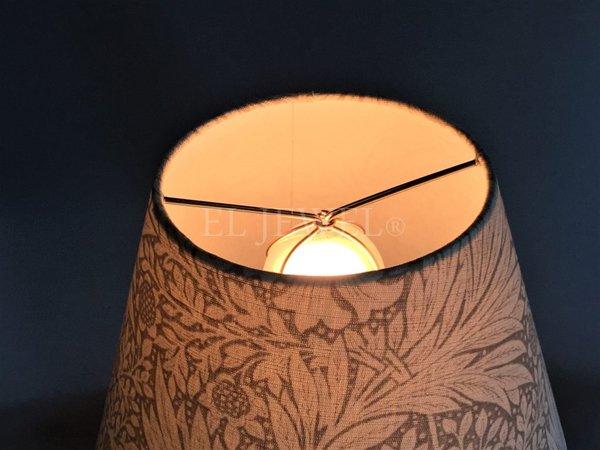 【William Morris】 アンティーク調シェードテーブルライト マリーゴールド(φ250×H450mm)