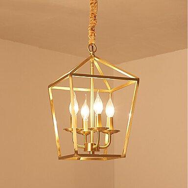 【JLYLITE】デザイン照明ランタンペンダントライト4灯(W400×H460mm)