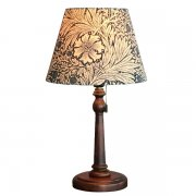 <b>【William Morris】</b>アンティーク調シェードテーブルライト マリーゴールド ブルー(φ250×H450mm)<img class='new_mark_img2' src='https://img.shop-pro.jp/img/new/icons1.gif' style='border:none;display:inline;margin:0px;padding:0px;width:auto;' />