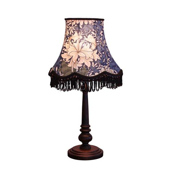 【William Morris】アンティーク調シェードテーブルライト クリサンティマム(φ290×H550mm)