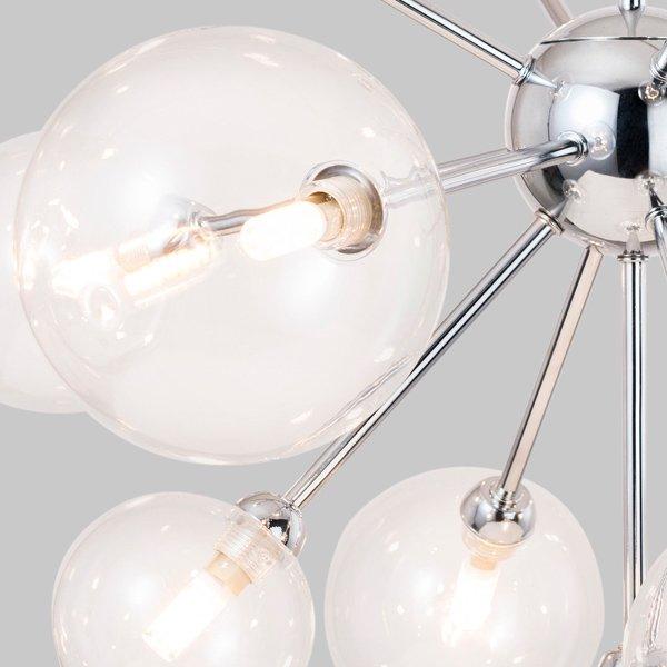 【在庫有!】ガラスボールシェードペンダントライト13灯クローム(φ720×H530mm)
