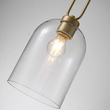 【ZHISHU】ガラスシェードペンダントライト1灯(W180×H470mm)