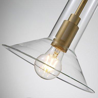 【ZHISHU】ガラスシェードペンダントライト1灯(W200×H350mm)