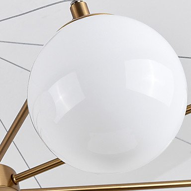 【ZHISHU】ガラスボールシェードペンダントライト8灯(W880×H550mm)