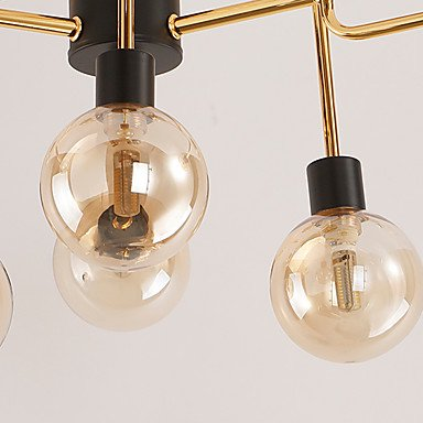 【在庫有】 【QINGMING®】ガラスボールシェードシャンデリア12灯(W800×H550mm)