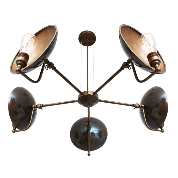 【Mullan】「CULLEN」インダストリアルシャンデリア5灯(W810-880×H270mm)