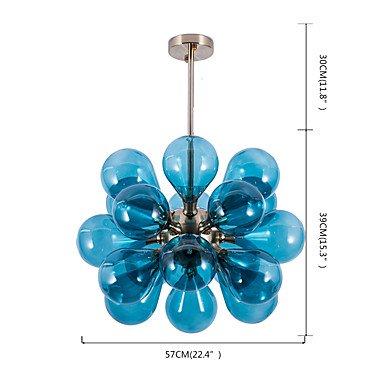 【ZHISHU】スプートニクデザインシャンデリア18灯 ホワイトorブルー (W570×H690mm)