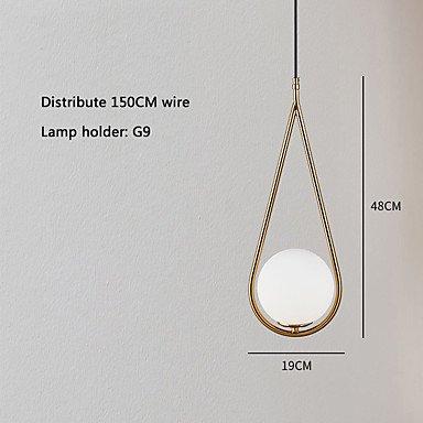 デザインペンダントライトゴールドorブラック1灯(W190×H450mm)