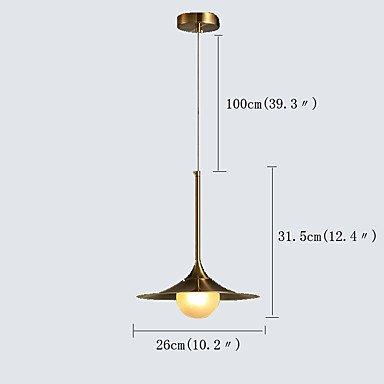 【QINGMING®】デザインペンダントライト1灯(W260×H315mm)