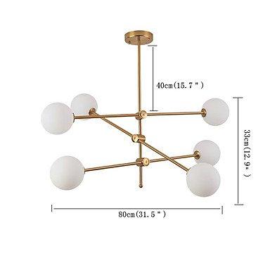 【QINGMING®】スプートニクデザインシャンデリア6灯 (W800×H330×800mm)
