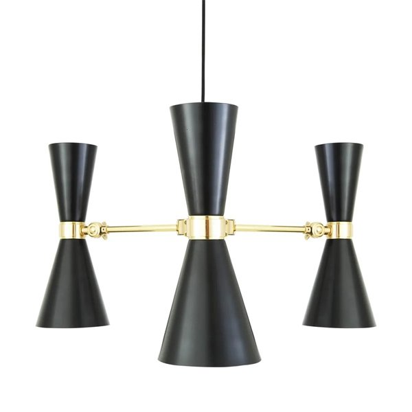 【Mullan】「CAIRO」コンテンポラリーシャンデリア3灯(W700×H360mm)
