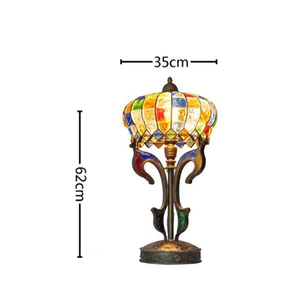 ガラスシェードテーブルランプ1灯(W350×H620mm)