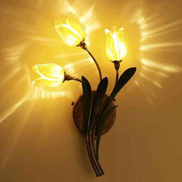 ウォールランプ・フラワー3灯(W300×H450mm)