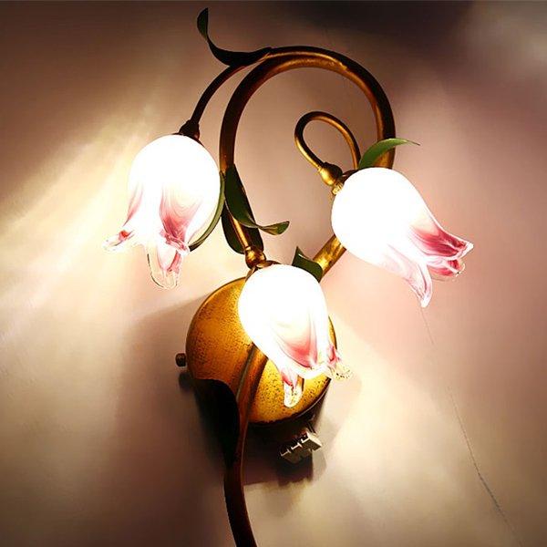 ウォールランプ・フラワー3灯(W300×H500mm)