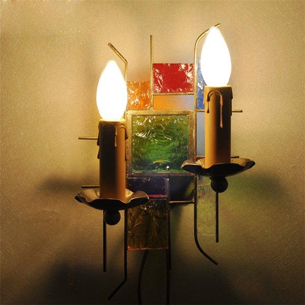 ウォールランプ2灯(W190×H300mm)