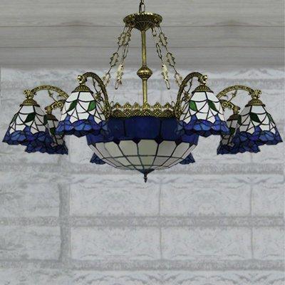 ステンドグラスランプ9灯(W960×H630mm)
