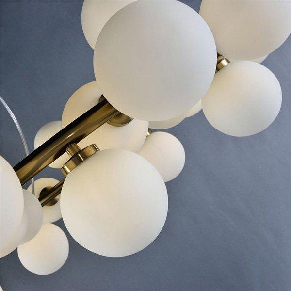ガラスボールシェードペンダントライト25灯(W760×H250mm)