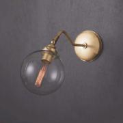 ガラスシェードロングウォールブラケット1灯 ライトゴールド(約Φ160×D450mm)