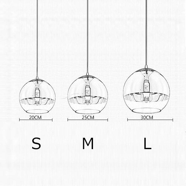 デザイン照明ペンダントライト1灯(S/M/L)