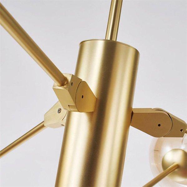 デザイン照明スプートニクシャンデリア9灯・ブラック/ゴールド(W1300mm)