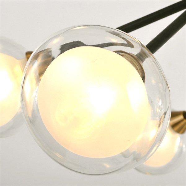 デザイン照明スプートニクペンダントライト12灯・ブラック(W1020×H600mm)