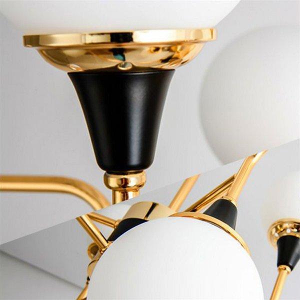 デザイン照明ガラスシェードシャンデリア12灯・ゴールド×ブラック(W1200mm)