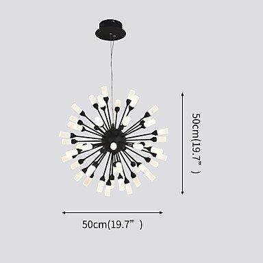 【ZHISHU】デザインシャンデリア・ブラック 48灯(Φ500mm)
