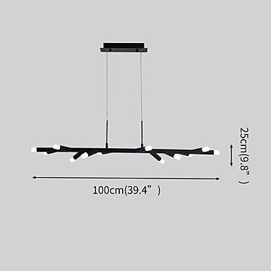 【ZHISHU】デザイン照明 ブラック 12灯(W1000×H250mm)