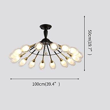 【ZHISHU】デザイン照明 ブラック 16灯(W100×H50mm)