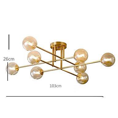 【QIHengZhaoMing】スプートニクデザインシャンデリア8灯 (W1030×H260mm)