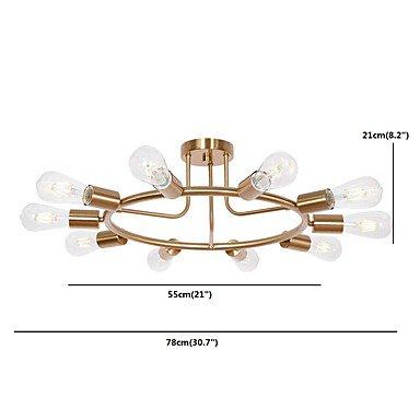 【JSGYlights】スプートニクデザインシャンデリア10灯ゴールド/ブラック(W550×H210mm)
