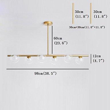 【JSGYlights】スプートニクデザインシャンデリア6灯 ゴールド/ブラック(W980×H120mm)