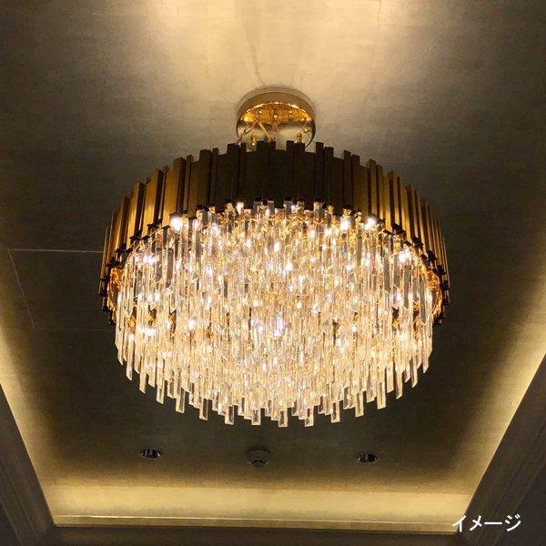 【在庫有!】デザインシャンデリア 12灯 (Φ800×H400mm)