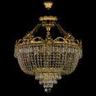 <B>【ART GLASS】</B>真鍮製チェコorスワロフスキークリスタルシーリングシャンデリア 8灯