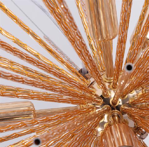 【OYLYW】スプートニクデザインシャンデリア12灯 ゴールド/クローム(Φ750mm)