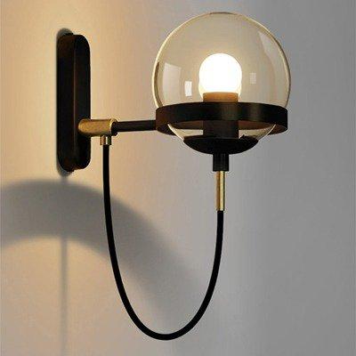 デザインウォールライト 1灯 ゴールド/ブラック (L280×W220×H22mm )