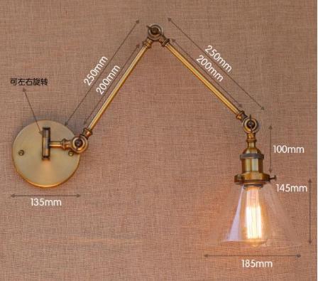 デザインロングアームウォールライト 1灯 ボール型/シェード型 (Φ185〜240mm )
